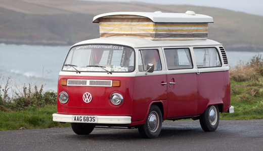 camper-hire-cornwall-red-vw